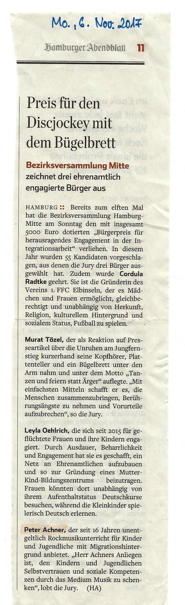 Hamburger Abendblatt 6.11.2017